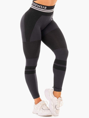FREESTYLE SEAMLESS HIGH WAISTED LEGGINGS BLACK