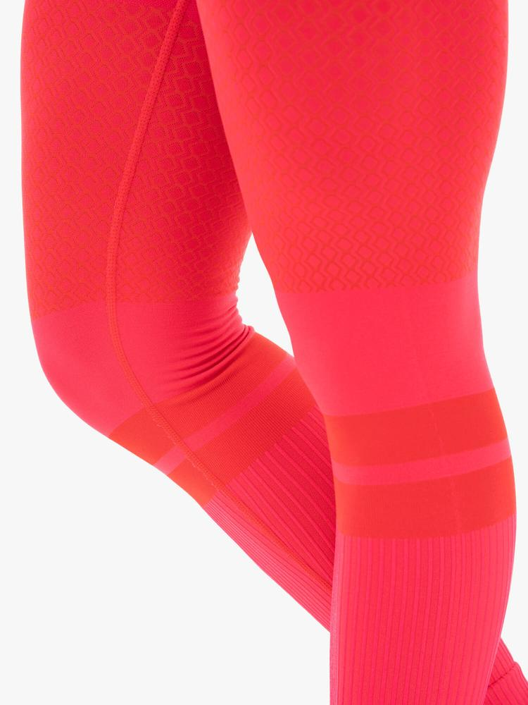 Ryderwear Freestyle Seamless High Waisted Leggings Red
