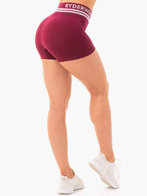FREESTYLE SEAMLESS HIGH WAISTED SHORTS BURGUNDY