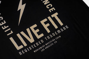 REGISTER TRADEMARK TEE -BLACK / TAN
