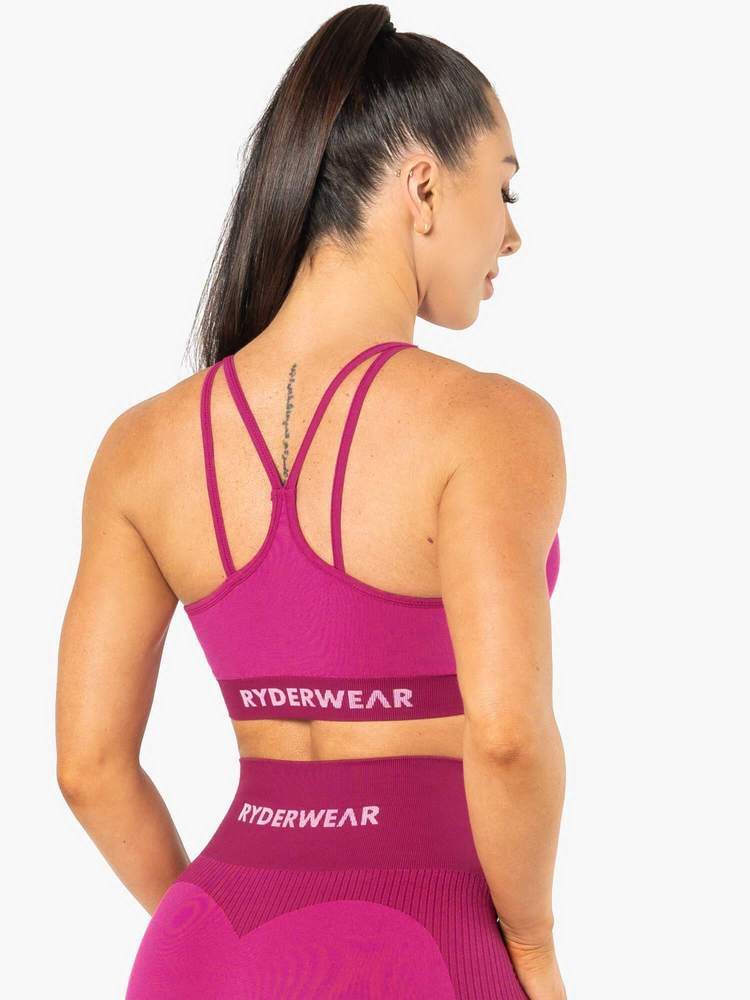 ELECTRA SEAMLESS SPORTS BRA ELECTRIC PINK