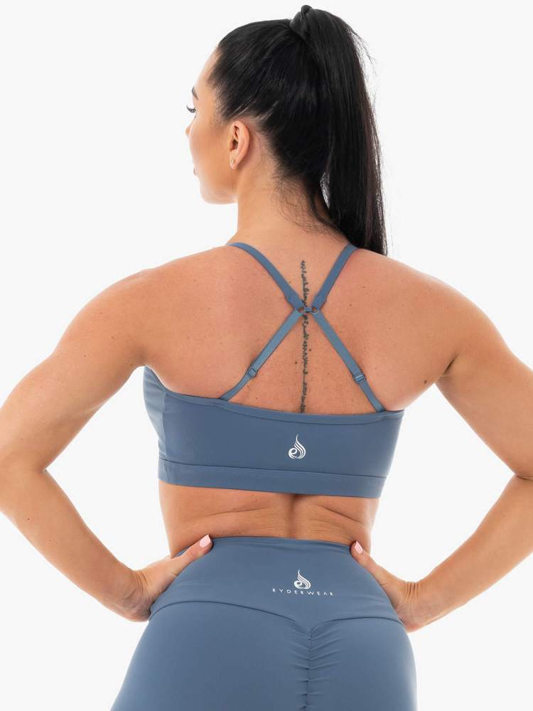 STAPLES SPORTS BRA STEEL BLUE