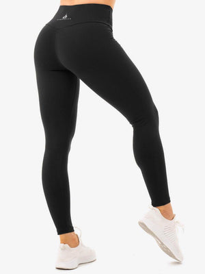 STAPLES HIGH WAISTED LEGGINGS BLACK