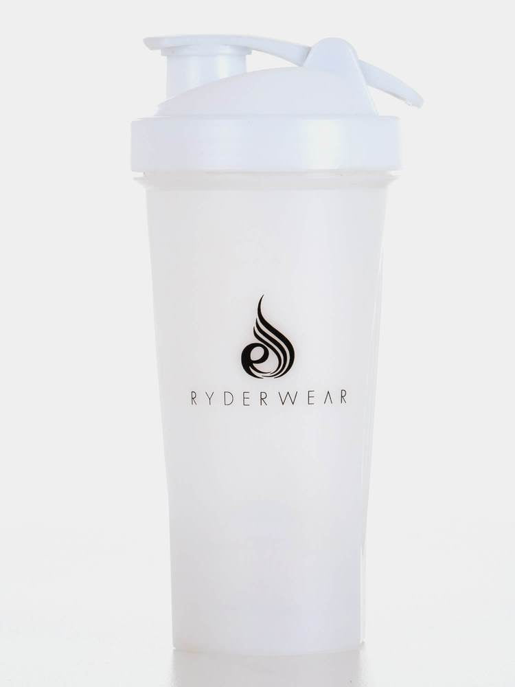 GIFT FIRST - RYDERWEAR PROTEIN SHAKER BOTTLE WHITE