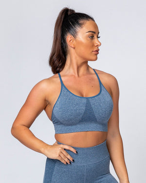 ALL DAY STRAP SEAMLESS BRA - NAVY MARL