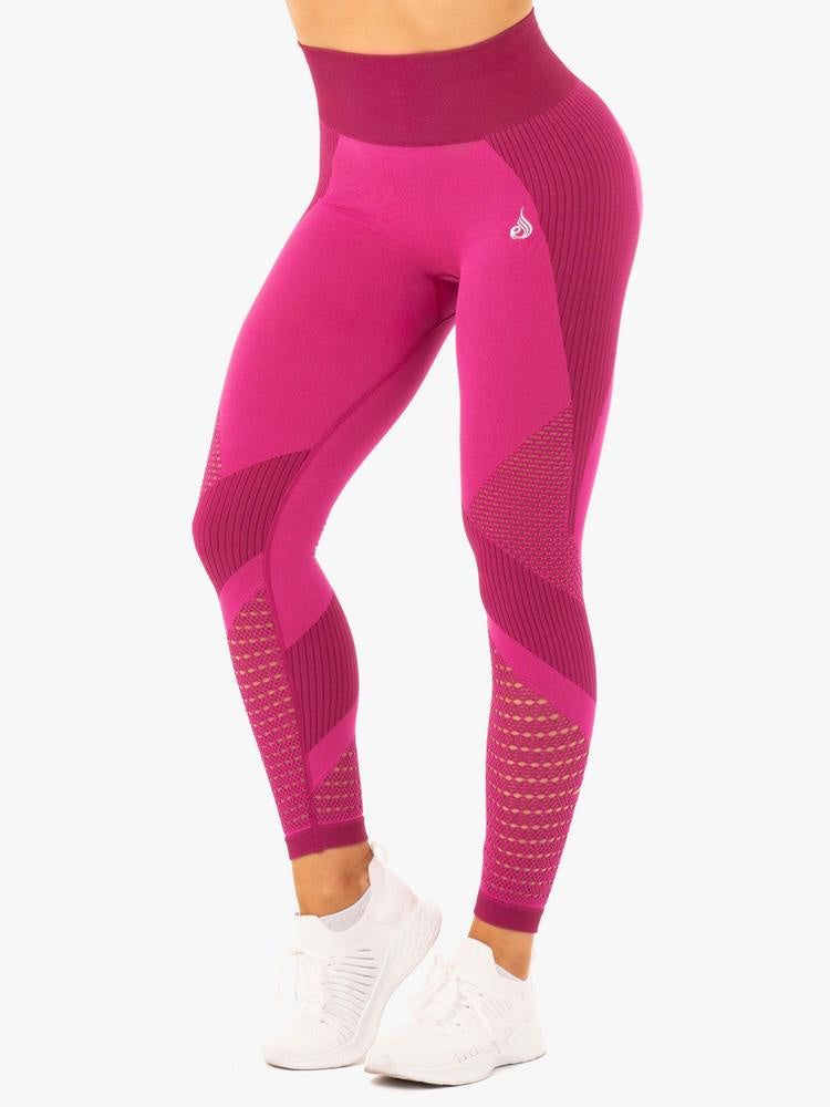ELECTRA SEAMLESS LEGGINGS ELECTRIC PINK