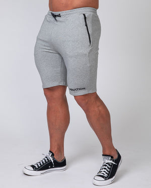 MNATION TAPERED FIT SHORTS - GREY