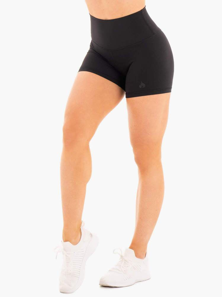 NKD HIGH WAISTED SHORTS BLACK