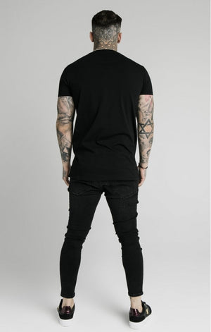 SikSilk Rhinestone Creep Tee – Black