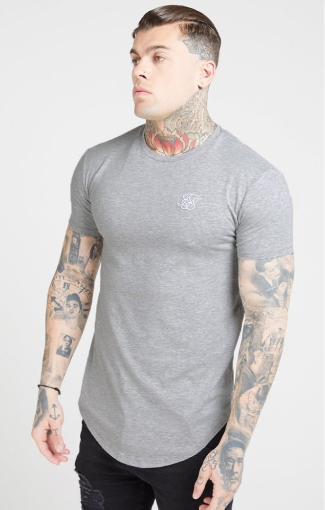 SikSilk S/S Core Gym Tee – Grey Marl