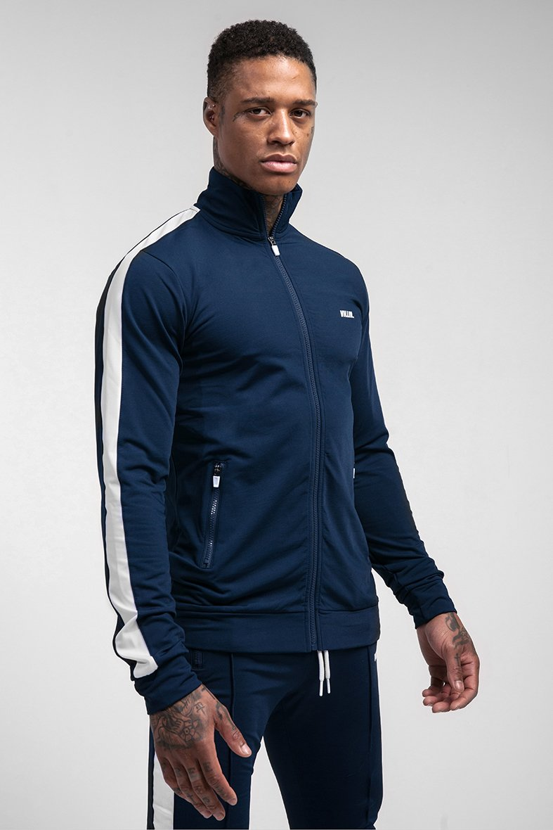 VILLIN ACE TRACK JACKET NAVY