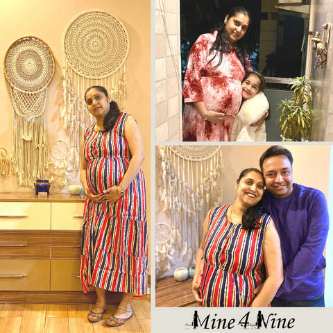 our loving beautiful customer share experience on our pregnancy dress