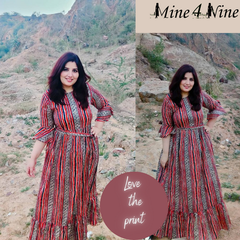 Mine4nine customer review testimonial. in our pregnancy dress