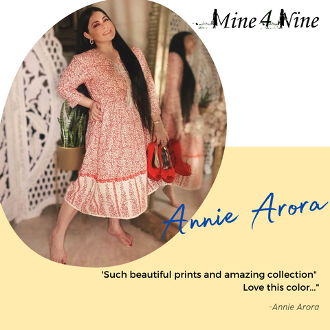 Mine4nine maternity dress customer real review with testimonial