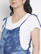 Load image into Gallery viewer, Mine4Nine - Dungaree - Royal Blue Regular Maternity Dungaree w/ Tie & Dye Print, Made Of Rayon