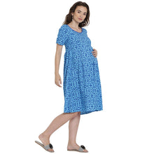 Load image into Gallery viewer, Light Sea Green Midi Maternity Dress Made of Rayon- Mine4Nine