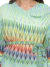 Load image into Gallery viewer, Trippy Blue Maternity Shrug Made of Viscose & Lycra- Mine4Nine