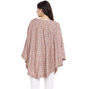 Fudge Kaftan Maternity Top w/ Palmette Print Made of Rayon- Mine4Nine