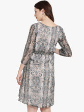 Load image into Gallery viewer, Mine4Nine - Dress - Multicolor A-line Maternity Dress w/ Animal Pattern, Made of Chiffon