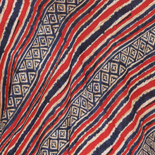 Load image into Gallery viewer, Red Kaftan Maternity Top w/ Striped Pattern Made of Rayon- Mine4Nine