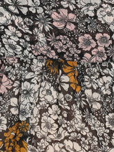 Load image into Gallery viewer, Black Regular Fit Maternity Top w/ Floral Pattern Made of Georgette- Mine4Nine