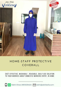 Abiti Bella 'Enklose' Reusable Protective Repair -Staff Coverall (Men), Set of 1 Pc