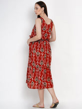 Load image into Gallery viewer, Mine4Nine - Dress - Mine4Nine Women's Red A-Line Rayon Maternity Dress
