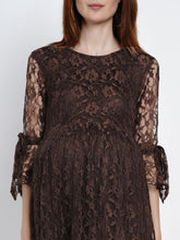 Load image into Gallery viewer, Mine4Nine Women's Fit & Flare Lace Maternity Dress