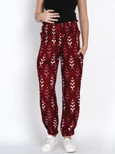 Load image into Gallery viewer, Mine4Nine - Trousers - Mine4Nine Women's Maroon Rayon Maternity Trousers