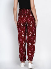 Load image into Gallery viewer, Mine4Nine Women's Maroon Rayon Maternity Trousers