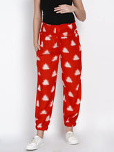 Load image into Gallery viewer, Mine4Nine Women's Red Rayon Maternity Trousers