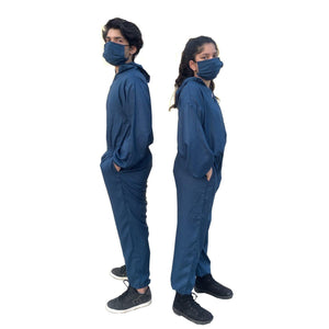 Mine4Nine - Protective Coverall - Abiti Bella 'Enklose' Unisex Blue/Grey/Olive Green Reusable Personal Protective Coverall