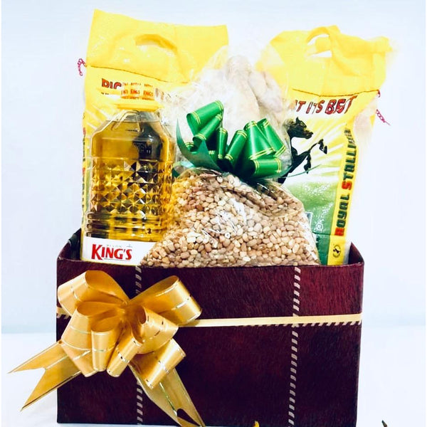 Medium Hamper (chicken, oil, rice, beans)
