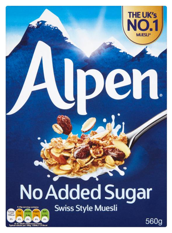 Alpen Muesli No Added Sugar 500 g