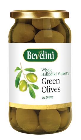 Bevelini Green Olives in Brine 370 g