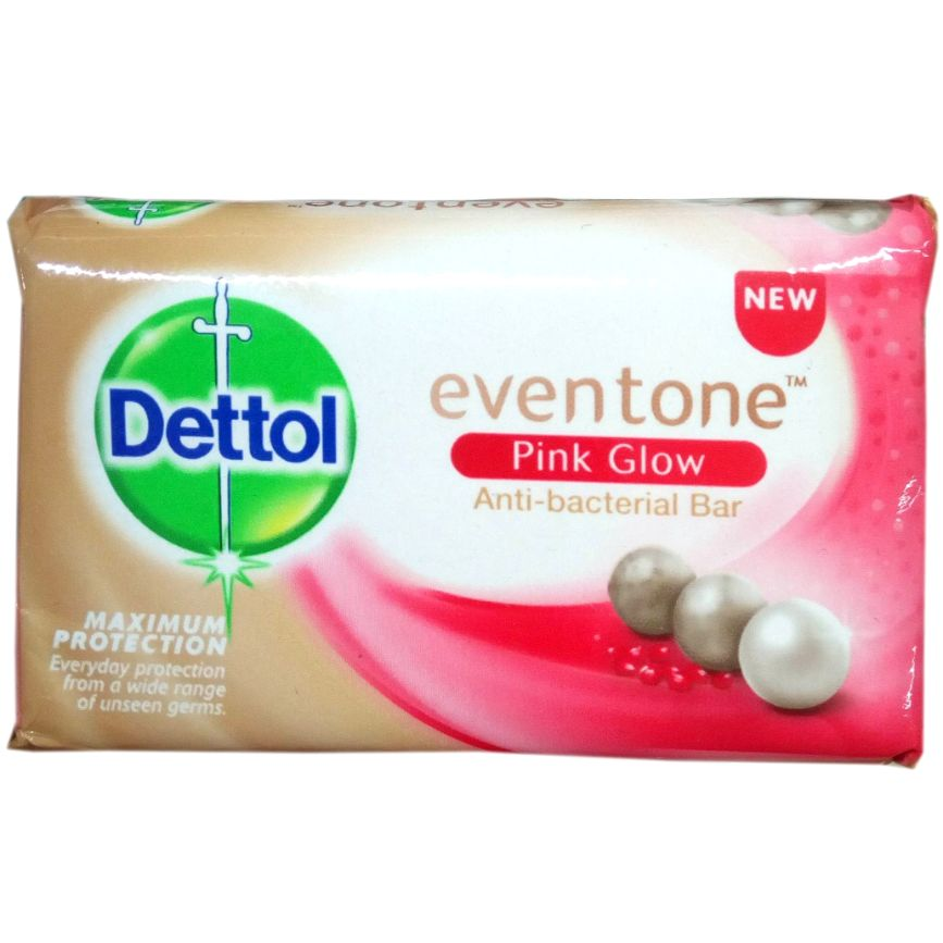 Dettol AntiBacterial Soap Even Tone Pink Glow 60 g