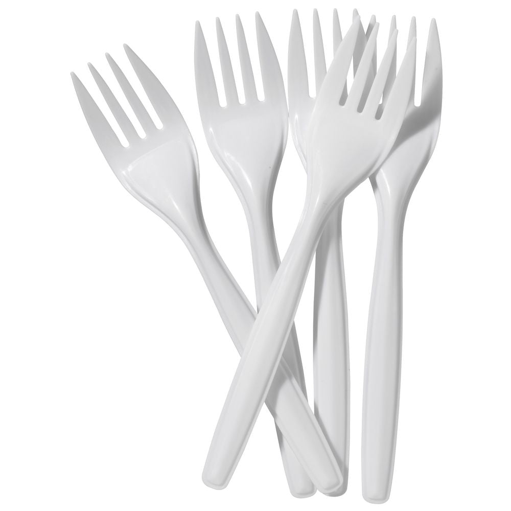 Disposable Plastic Forks x100