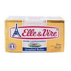 Elle & Vire Butter Unsalted 200 g