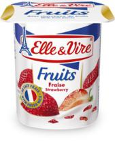 Elle & Vire Yoghurt Strawberry 125 g x4