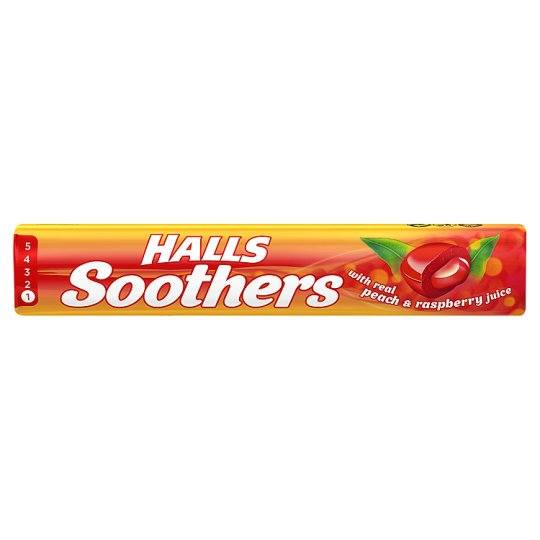 Halls Soothers Real Peach & Raspberry Juice 45 g