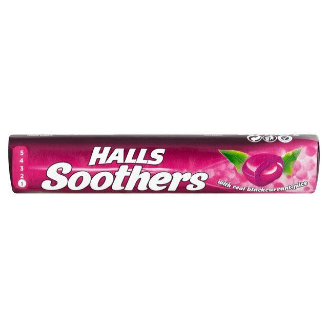 Halls Soothers Soothing Blackcurrant 45 g