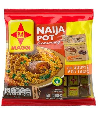 Maggi Naija Pot Seasoning For Soups & Pottages 200 g x50