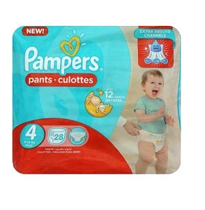 Pampers Pants Size 4 Maxi 914 kg x28