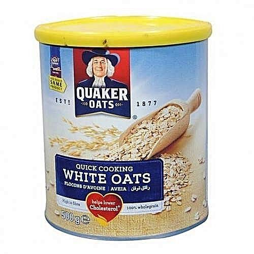 Quaker White Oats Tin 500 g