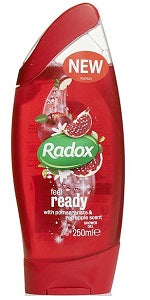 Radox Shower Gel Feel Ready With Pomegranate & Red Apple Scent 250 ml