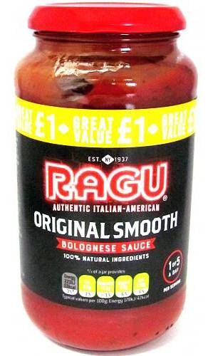 Ragu Original Smooth Bolognese Sauce 500 g