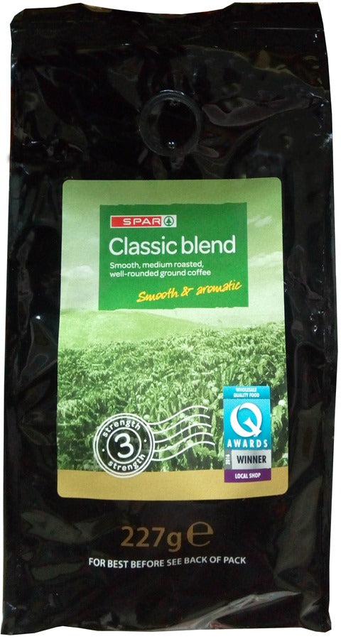 Spar Classic Blend Roasted Ground Coffee Smooth & Aromatic 227 g