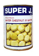 Super J Whole Peeled Water Chestnut 565 g