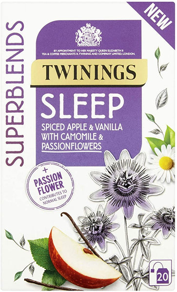 Twining Super Blend Sleep Spiced Apple Vanilla Camomile & Passionfloowers 30 g x20