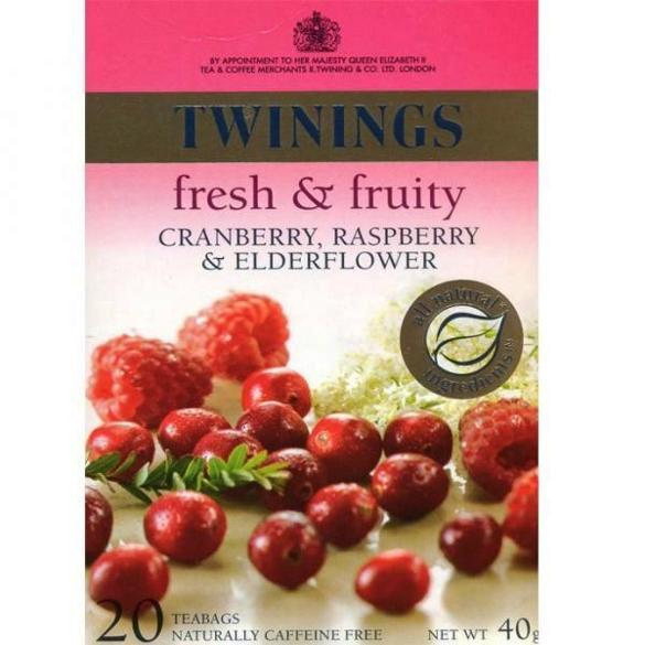 Twinings Cranberry Raspberry & Elderflower 40 g x20